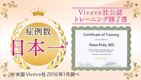 当クリニックはViveve社の公式トレーニングを受けています。
